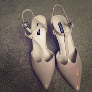Never worn blush colored heels